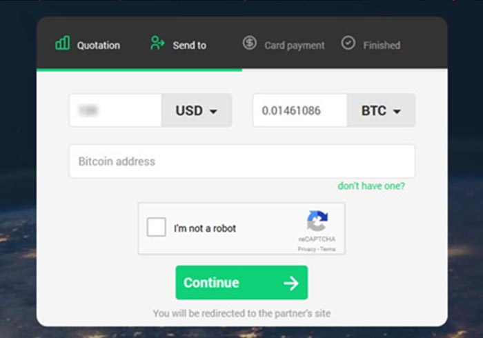 Changelly buy bitcoin with credit card EUR/BTC