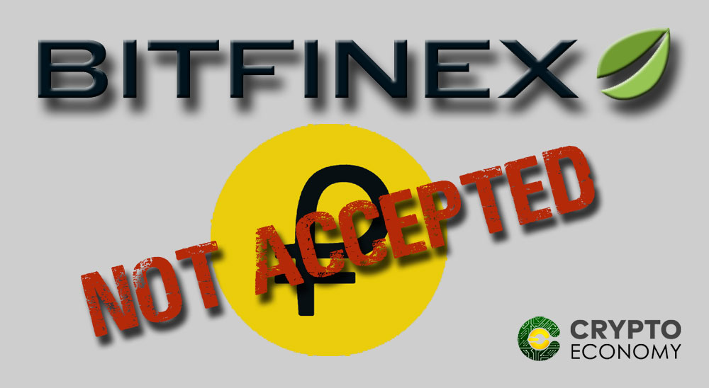 Bitfinex will not accept Petro