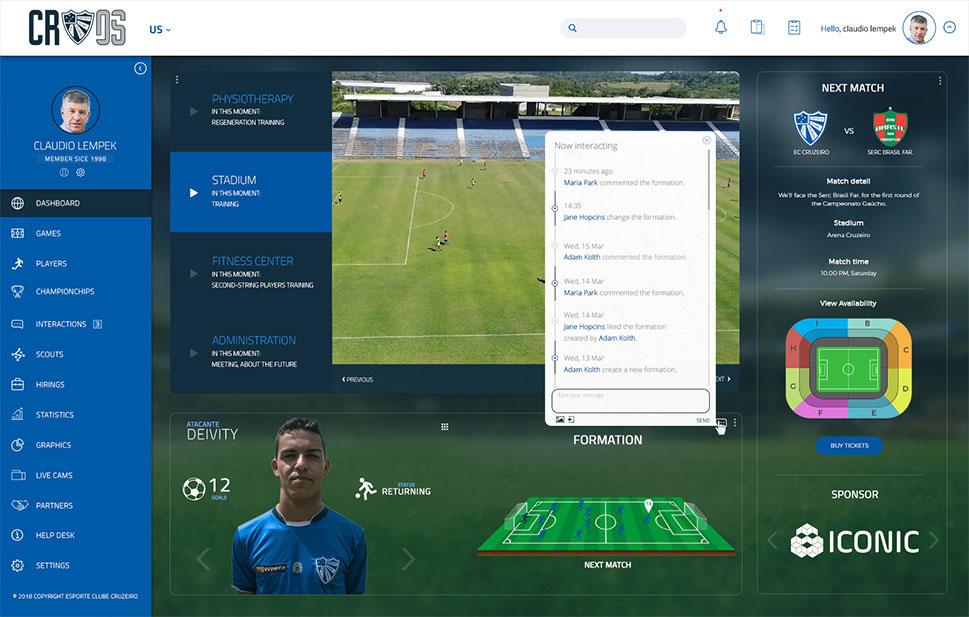 Cruzeiro sports platform