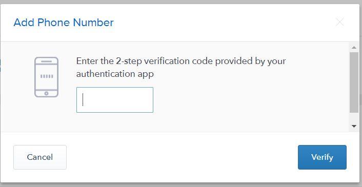 Phone verification code