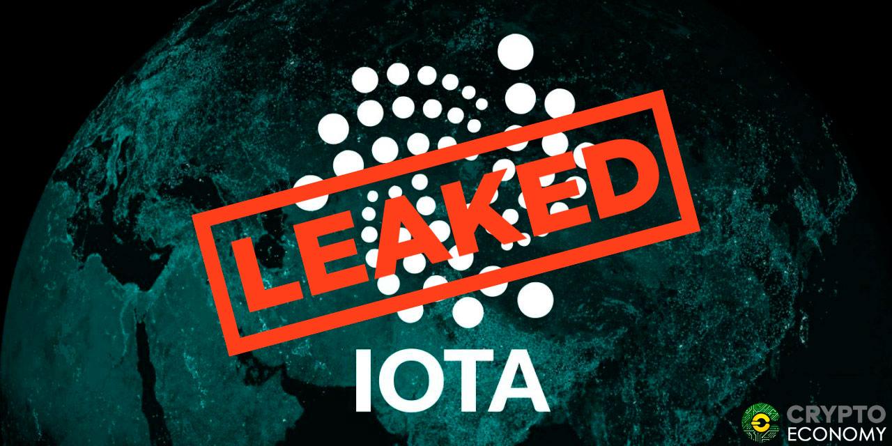 Slack leak about IOTA