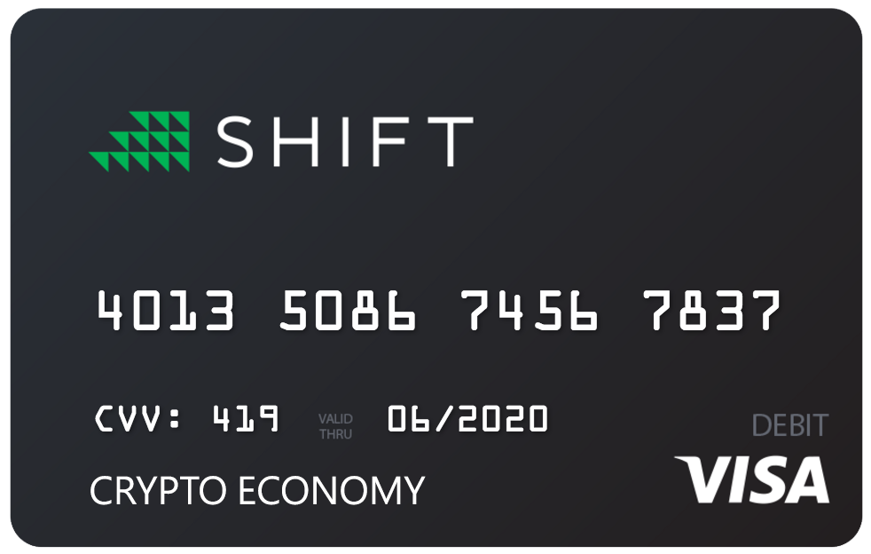 debit shift card to pay with bitcoin