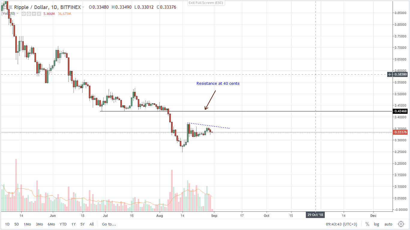 daily Chart -Ripple XRP - Technical Price Analysis