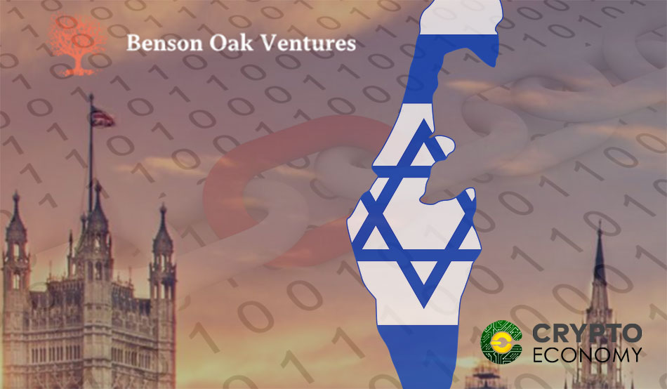 Benson Oak will raise 100 million dollars to support startups based on Blockchain