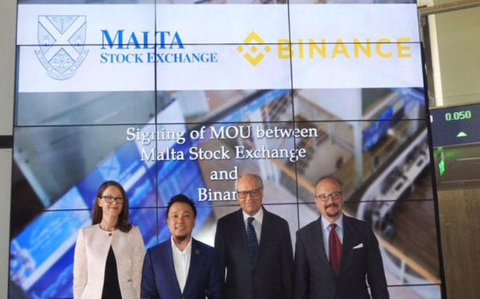 Binance Association with Malta Stock Exchange