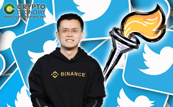 "Binance CEO CZ Gets Passed On the ""Lightning Torch"""