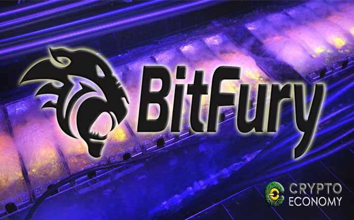 Bitfury uses a special fluid to cool its mining equipment