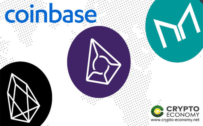 EOS, Augur [REP] and Maker [MKR], Coinbase Pro Adds the three Crypto Assets on its Platform