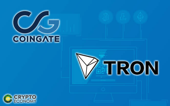CoinGate Adds Support for TRON (TRX) Payments for Online Merchants