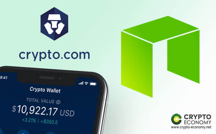 NEO is listed on the Crypto.com crypto platform