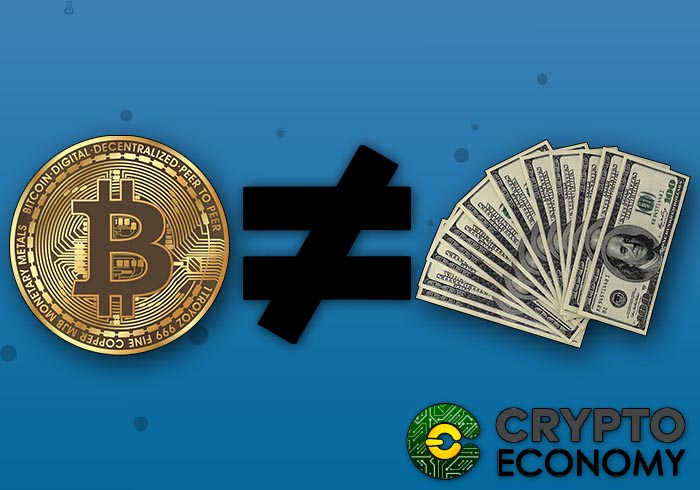 You differ between bitcoin and fiduciary money