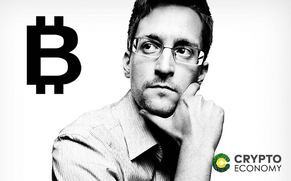 Edward Snowden thinks that Bitcoin should not be a public book