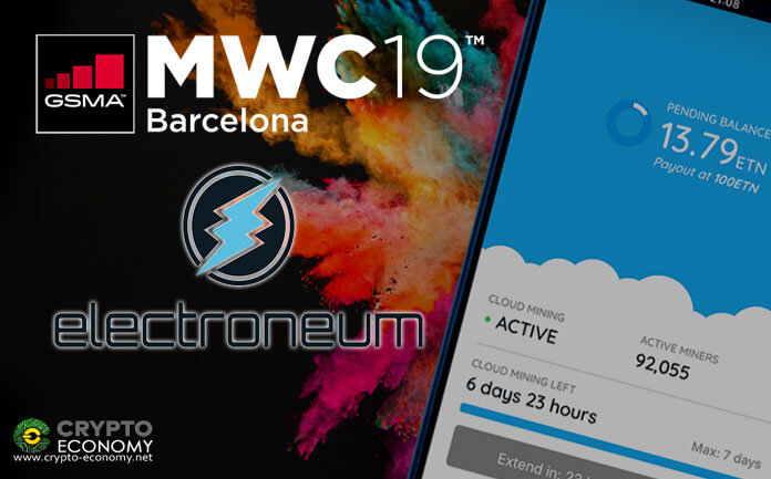 Electroneum [ETN] presents its cloud mining technology in its new smart phone at MWC Barcelona