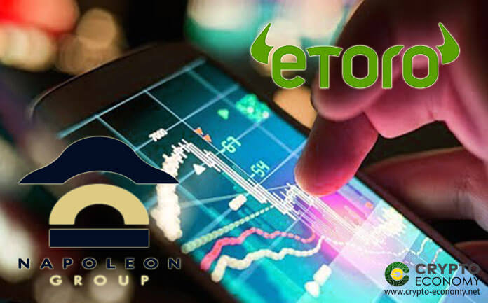 eToro partners with Napoleon Group to launch a crypto asset management service