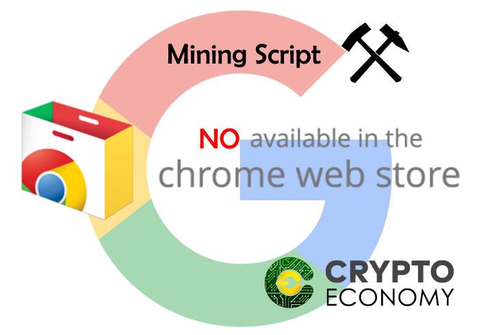 google web shop prohibe extensiones de minado de criptomonedas
