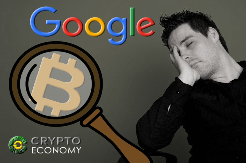 Google cryptocurrency searches are reduced