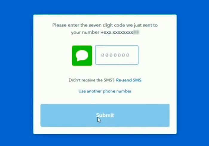 Coinbase verificación de telefono