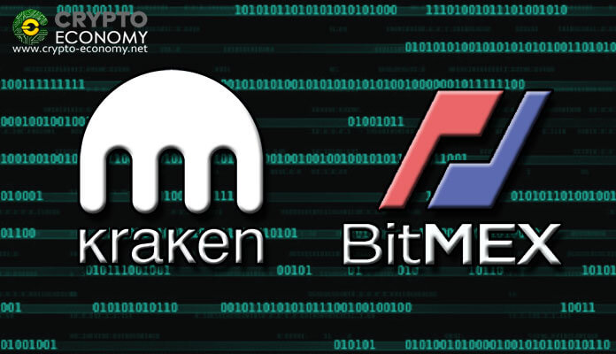 Kraken and BitMex futures exchange platforms