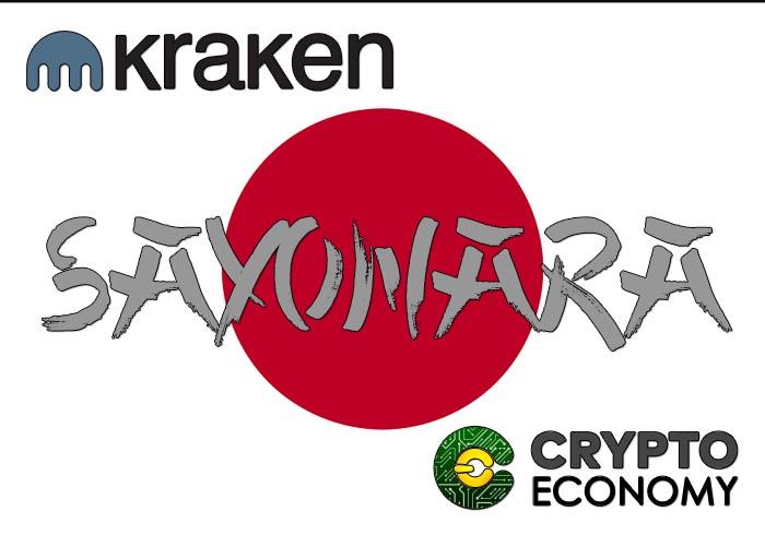Kraken stop operations in Japan