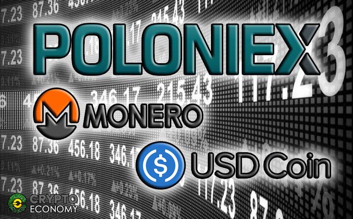 Poloniex: USD Coin [USDC] Now Traded Against Monero [XMR]