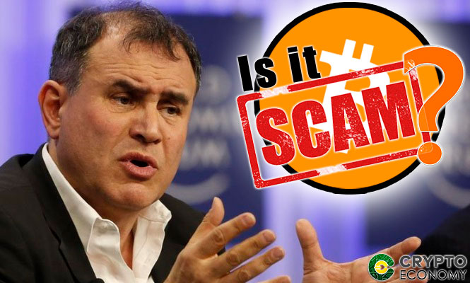 Nouriel Roubini believes that bitcoin BTC and blockchain are scam