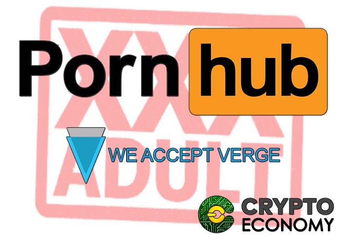 Pornhub y otras webs de adultos aceptan verge como forma de pago