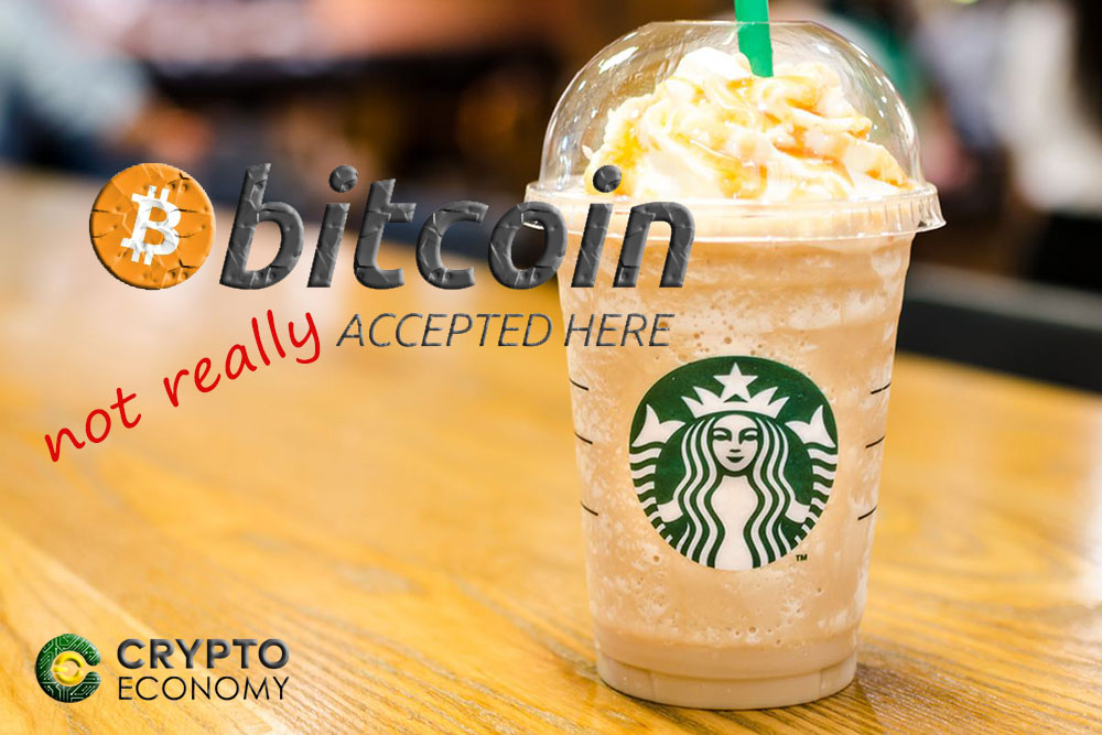 Starbucks clarifies it will not be accepting Bitcoins