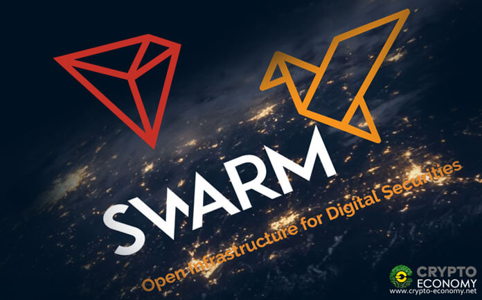 Tron [TRX] The startup Swarm will soon offer its customers to issue security tokens based on Tron