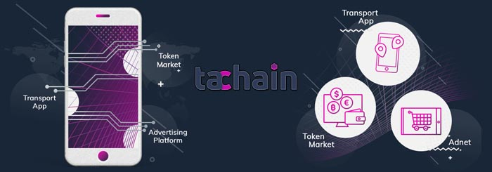 Tachain earn tokens TCHN while using a taxi