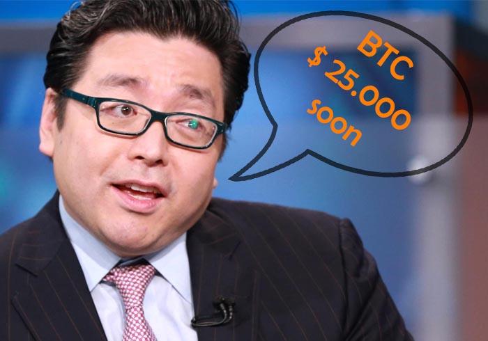 tom lee confirma su predicción btc a 25000 dolares