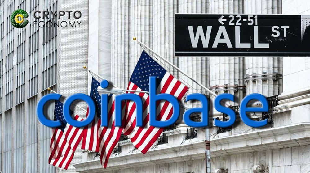 Coinbase begins its march towards Wallstreet