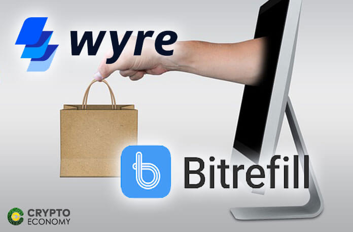 Bitrefill and Wyre directly into the wallet application