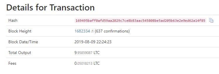 LTC Binance Dusting Attack