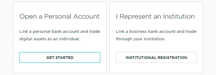 create an account in gemini exchange