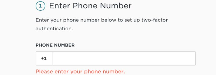 Phone number request gemini exchange