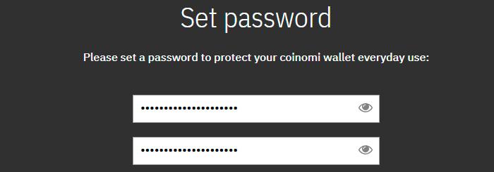 coinomi wallet password