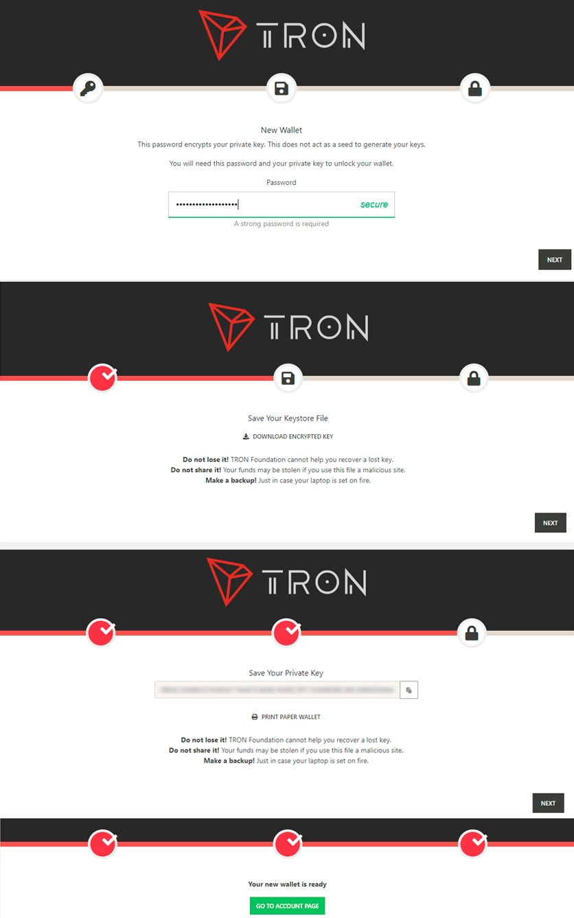 create-tron-wallet-steps