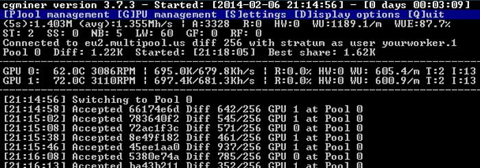 mining software cgminer