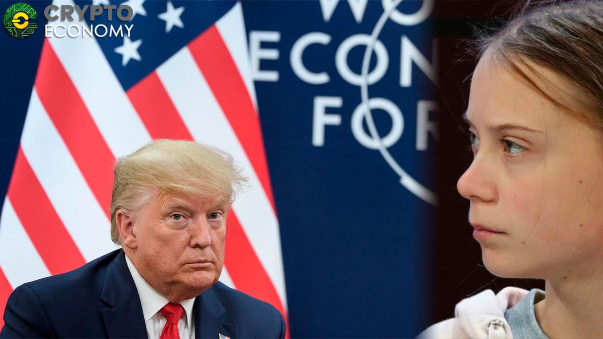 Donald Trump and Greta Thunberg met in Davos 2020