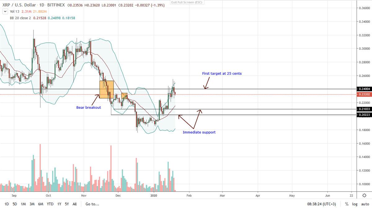 Ripple XRP price analysis 01/20/2020