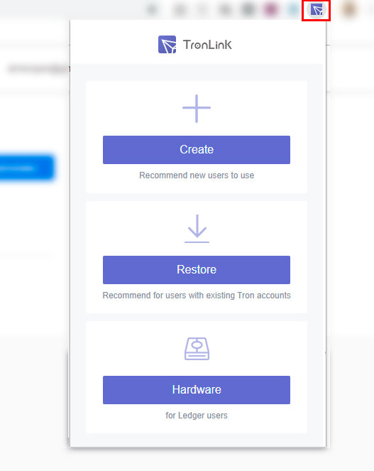 tronlink wallet creation