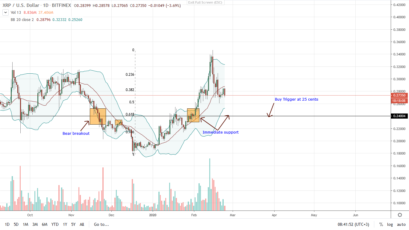 Ripple Daily Chart for 24.02.2020