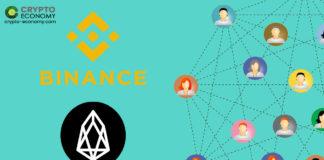 EOS added to Binance P2P Platform
