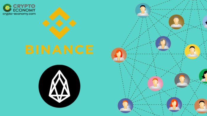 EOS added to Binance P2P Platform