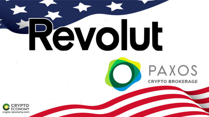 Revolut Launches Crypto Trading in the US Leveraging Paxos' New Crypto Brokerage Service