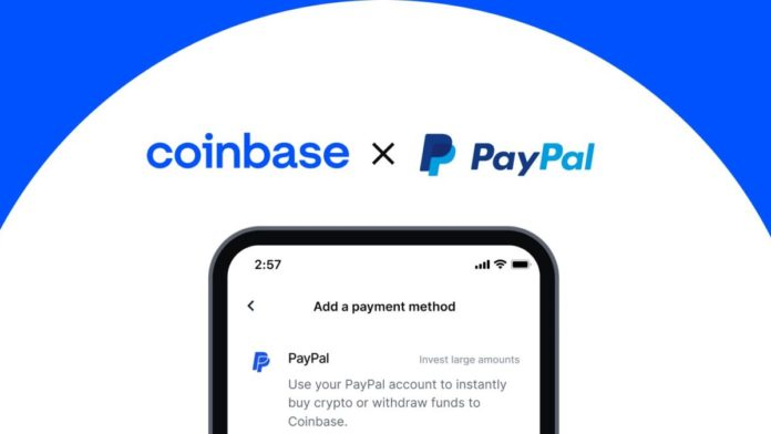 Coinbase Enables US Users To Purchase Crypto With PayPal