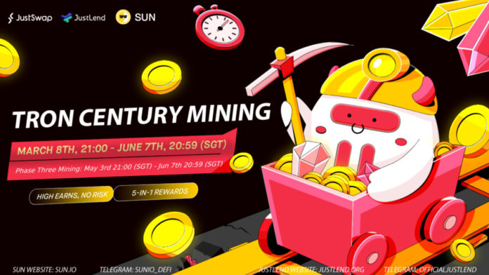 The Third Phase of TRON Century Mining is No Live