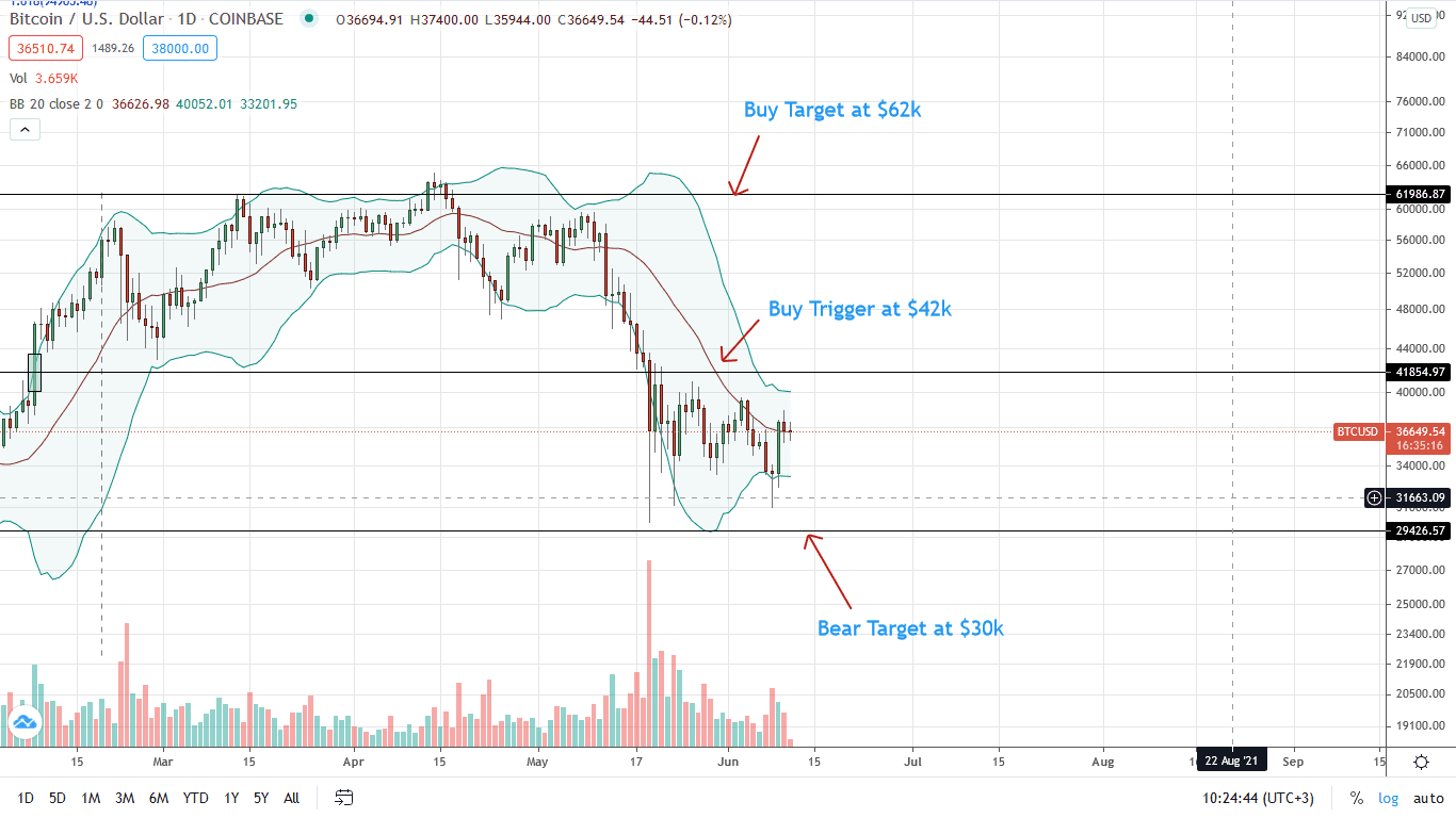 Bitcoin Price Daily Chart for June 11 (1)