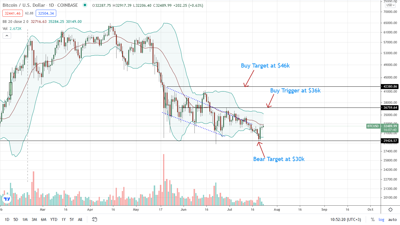Bitcoin Price Daily Chart for July 23